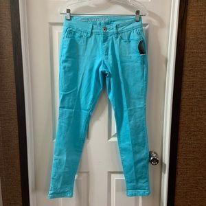 Signature Studio Turquoise Blue Skinny Jeans 4